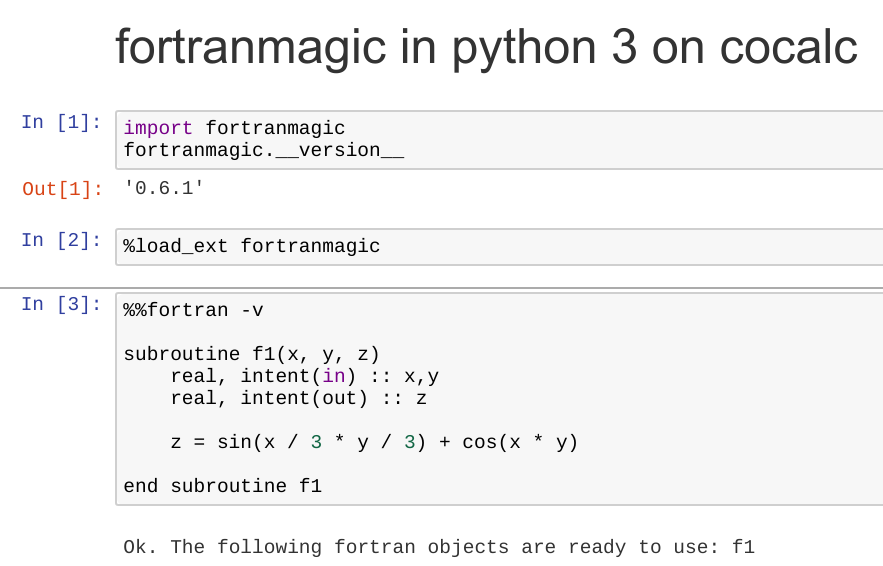 Fortran Programming — CoCalc Manual documentation